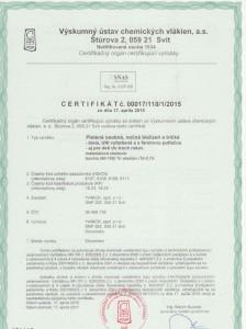 certifikát SK 001