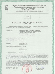 certifitát 001